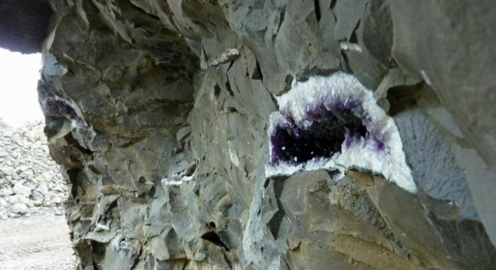 Amethyst Geodes In Basalt