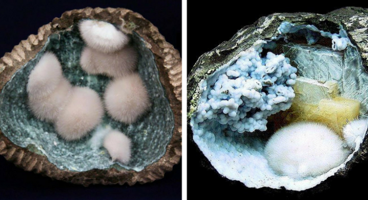 Rare Geodes With Beautiful Landscapes Within from India