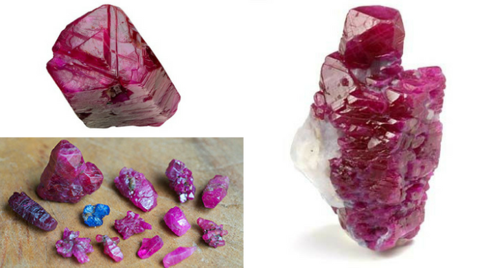 Natural Hexagonal Ruby Crystals