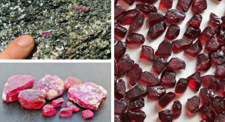 Rubies in Amphibolite and Ruby Colour Difference Due to Iron Content