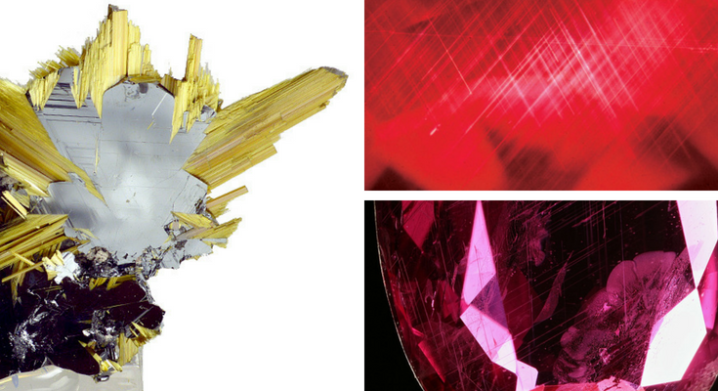 Rutile Needle Inclusions in Rubies aka Silk